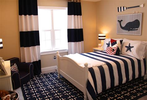 nautical themed bedroom curtains red white and blue kids rooms project junior