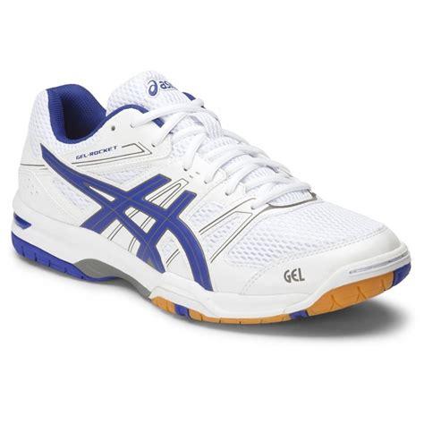 asics gel rocket 7 mens indoor court shoes white