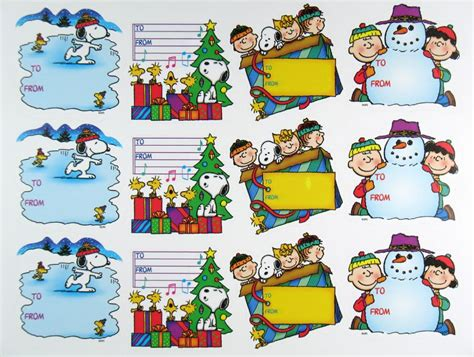 printable snoopy christmas gift tags peanuts gang holiday gift labels snoopn4pnuts com