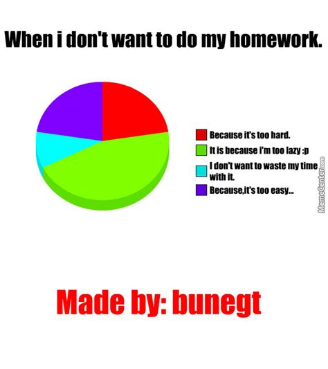 does my i when i don t want to do my homework by bunegt meme center