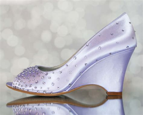 Chagne Wedge Wedding Shoes by Purple Wedding Shoes Lilac Wedding Bling Wedding Wedding