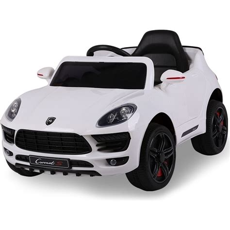 porsche cars white porsche macan inspired ride on car white 12v buy
