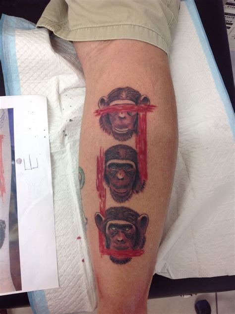 evil monkey tattoo designs three wise monkeys tattoos monkey