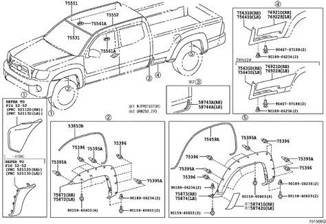 2009 Toyota Tacoma Parts Diagram