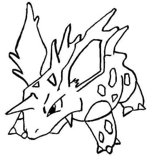 pokemon coloring pages nidoking pokemon coloring page 033 nidorino coloring pages