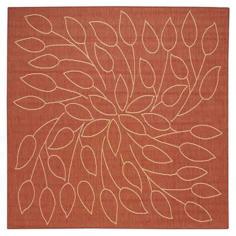 decorator rugs home decorators collection persimmon terra cotta 7 ft 6 in square area rug 4248643860 the