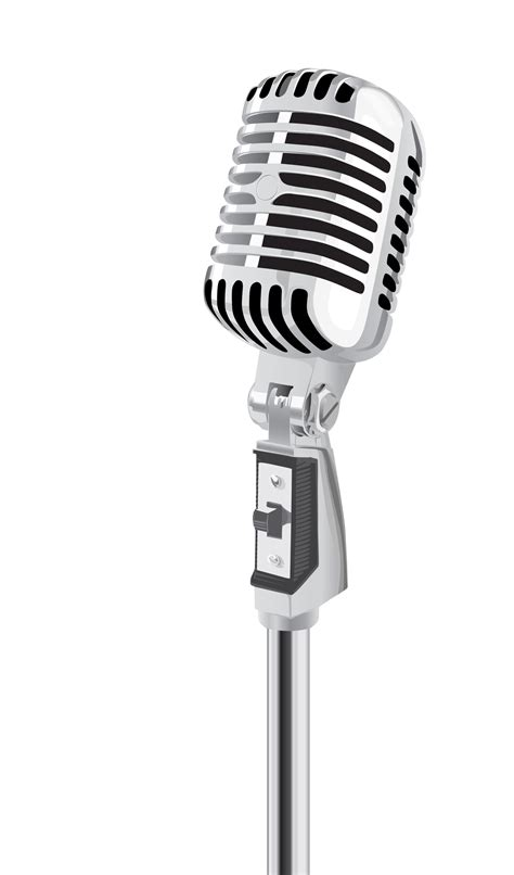 web and microphone fashioned mic clipart