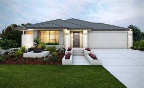 textured front facade modern box home stylish elevation with rendered facade and feature planter
