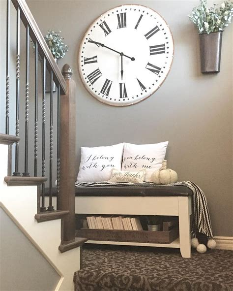 stairway decor best 20 farmhouse clocks ideas on pinterest landing