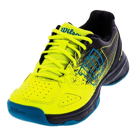 Kaos Yellow wilson juniors kaos comp tennis shoes in safety yellow