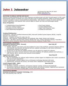 It Example Resume It Help Desk Support Resume Sample Resume Downloads