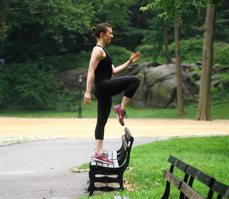 park bench exercises 12 minute park bench workout isabel smith nutrition
