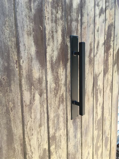 Barn Door Handle 1 Quot X 1 Quot Square Handle Modern Style Wrought Iron Barn Door Handles