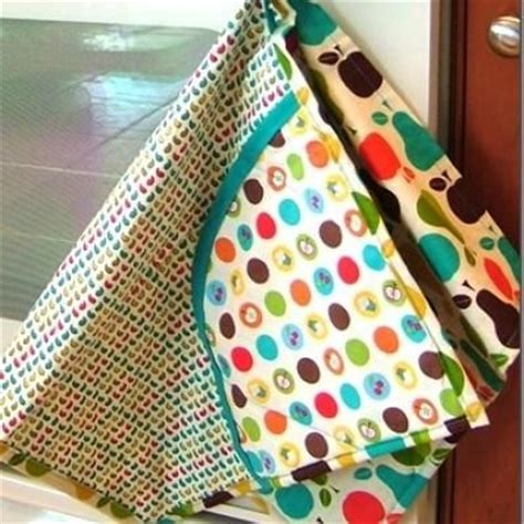 sewing pattern kitchen towel holder all in one apron dish towel double pot holder free