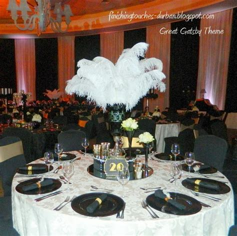 Great Gatsby Table Decor the great gatsby la lucia matric 2013 finishing touches to the finest
