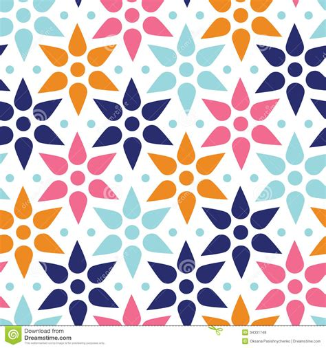 seamless pattern stars abstract colorful stars seamless pattern stock vector