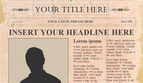 Old Newspaper Template Microsoft Word Best Template Exles Newspaper Ppt Template Free