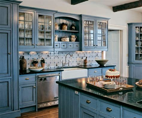 country blue kitchen cabinets country cream colored kitchen cabinets smith design incredible painting kitchen cabinets