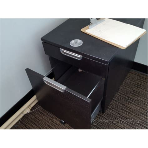 ikea rolling drawers ikea galant espresso 2 drawer rolling pedestal w
