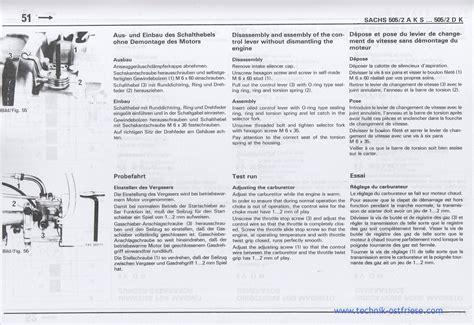 Sachs Motor Vergaser Einstellen by Sachs 505 2 Motor Schalthebel Demontieren Und Vergaser