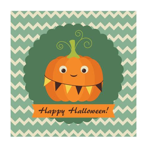 tutorial illustrator halloween create an easy retro pumpkin card in adobe illustrator