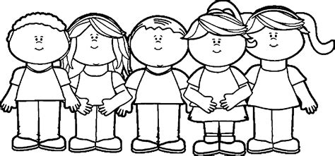 children happy kids coloring page wecoloringpage