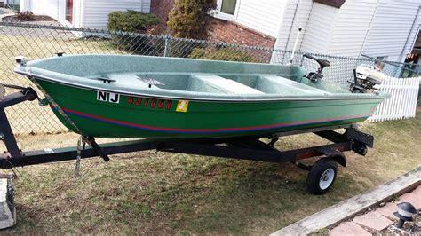 jon boat with trolling motor speed 1976 v bottom 11 ft fiberglass boat with registration 30lb