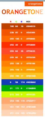 orange html color hex orange tone color schemes color combinations color palettes for print cmyk and web rgb html