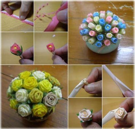 cara membuat kerajinan tangan bingkai foto dari sedotan bunga bunga yang indah