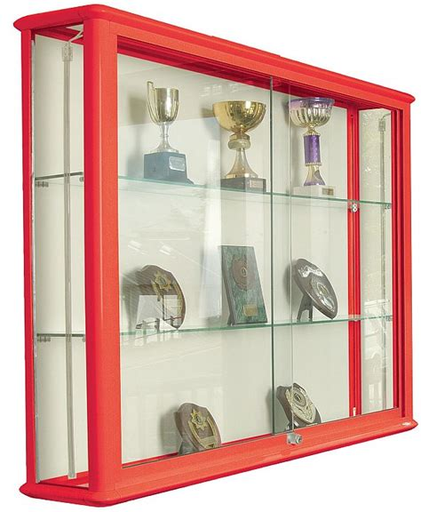 wall mounted trophy cabinets glass and steel display cabinets