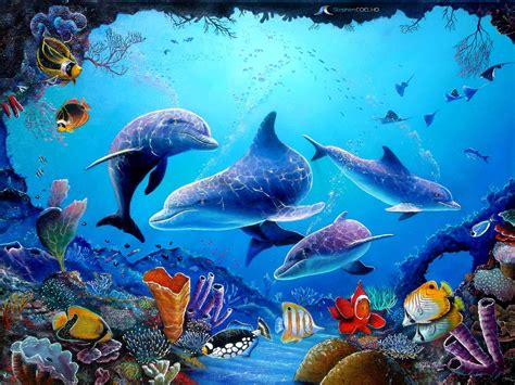 live wallpaper for pc no download free dolphin wallpapers for desktop wallpaper cave