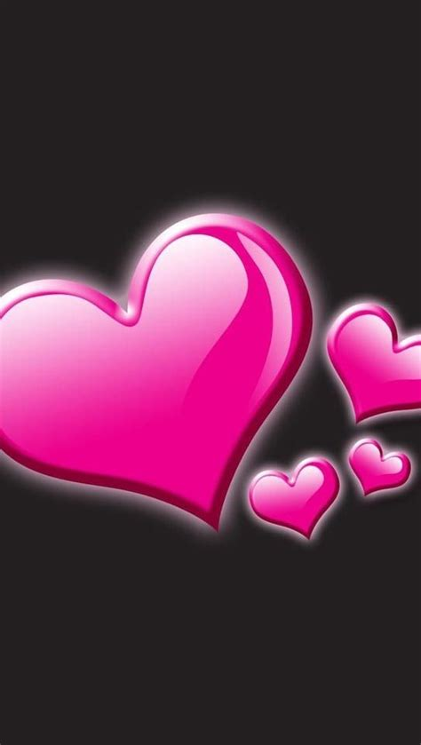 black pink heart iphone wallpaper valentine s day tjn papper