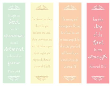 printable awesome bookmarks 7 images of bible verse printable bookmarks craft