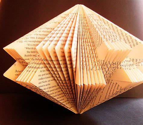 Folding Paper Book - book paper sculpture altered book folded paper