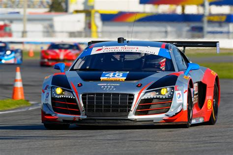 audi racing audi r8 lms race teams kick off 2015 season at rolex 24 in