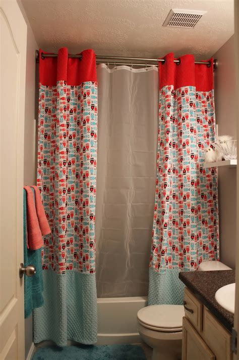 split shower curtains split shower curtain with valance home design ideas