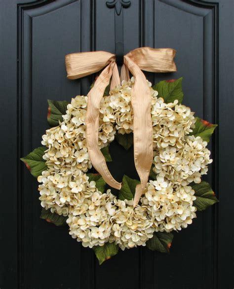 Hydrangea Wreaths Fall Wedding Decor Wedding Wreaths Wedding Wreaths For Front Door