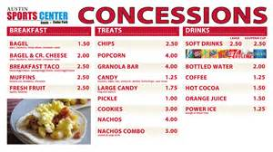 Concession Stand Menu Template by Concession Stand Food Ideas Car Interior Design