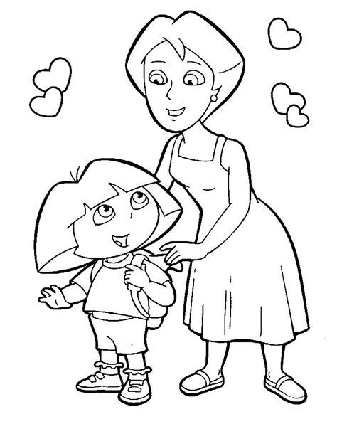 boots dora and diego coloring pages coloring pages