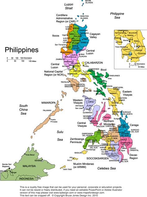 printable map philippines philippines regions map