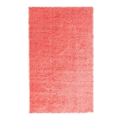 Microfiber Area Rug Chesapeake Merchandising Microfiber Shag Coral 5 Ft X 7 Ft Area Rug 79205 The Home Depot