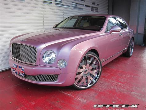 bentley car pink pink bentley mulsanne gets forgiato 24s from office k