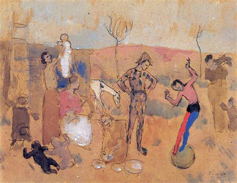 picasso period paintings images family of jugglers pablo picasso period