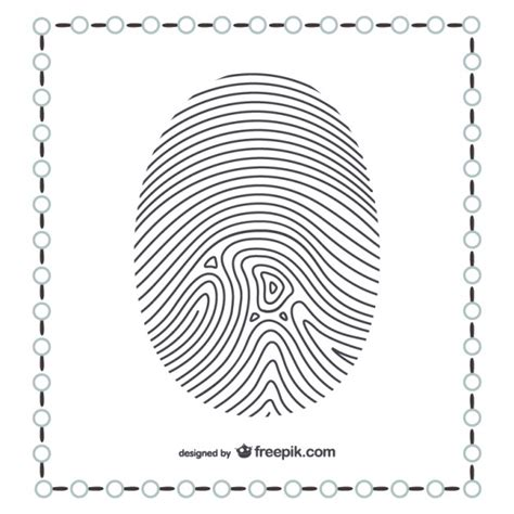 thumb print cards craft by free template thumb fingerprint vector free