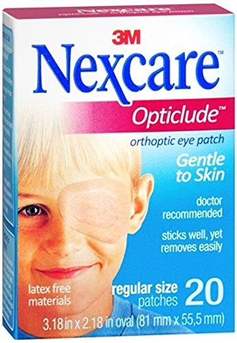 coverlet eye patch nexcare opticlude orthoptic eye patches regular size 20