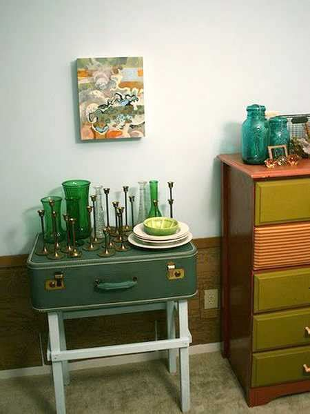 design ideas  upcycle  suitcases  modern