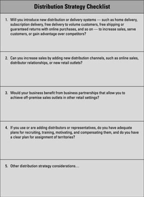 business plan marketing section business marketing plan distribution pricing and