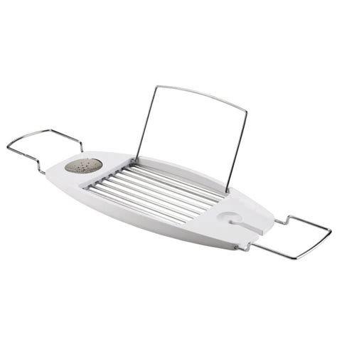 umbra bathtub caddy umbra oasis expandable bathtub caddy white 020395 660