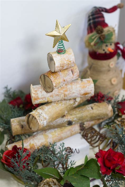 wooden christmas craft centerpieces rustic birch wood tree anything everythinganything everything