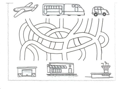 printable train maze crafts actvities and worksheets for preschool toddler and
